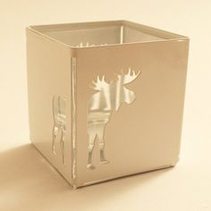 Tableglow Moose Candle / Tealight Holder on Etsy, $30.00
