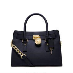 735eb39b1ed9c7 Save on the Michael Kors Michael Hamilton Saffiano Leather Medium Navy  Satchel! This satchel is a top 10 member favorite on Tradesy.