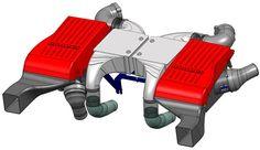 BRABUS V8 B63 bi-turbo intercooler system