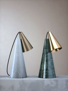 """like a glowing lamp. I've never met anyone like you before"""" - JULIET MARILLIER - Table Lamp with stone base and conic metal lightshade in brass or bronze finish by Edizioni Design) Luxury Lighting, Interior Lighting, Modern Lighting, Lighting Design, Marble Lamp, Brass Lamp, Copper Lampshade, Light Table, Lamp Light"""