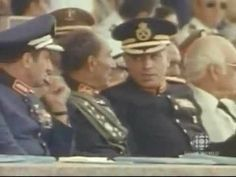 Moment of the assassination of Anwar Sadat and survival of Hosni Mubarak ترور انورسادات Hosni Mubarak, Military History, Egyptian, Presidents, Captain Hat, In This Moment, Youtube, Survival, Icons