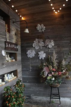 saipua. Those things on the wall--how do I make them? Any ideas?