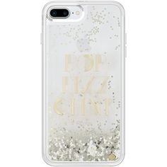kate spade new york Liquid Glitter Clear Case for iPhone 7 Plus Gold... ($50) ❤ liked on Polyvore featuring accessories, tech accessories and kate spade