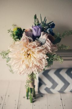 big dahlias make for the prettiest of bouquets Photography by Carla Ten Eyck Photography / carlateneyck.com/, Event Planning by Jubilee Events / eventjubilee.com, Floral Design by Just For You Floral Design / justforyouweddings.com/ #Bouquet #Dahlias