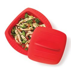 Starfrit Square Silicone Steamer Papillote for servings pure premium silicone Heat-resistant to temperatures up to 446 F Rigid, easy-to-grip handles Nonstick, stain-resistant surface Safe for microwave, oven & freezer Dishwa . Slow Cooker Desserts, Slow Cooker Recipes, Healthy Meal Prep, Healthy Recipes, Specialty Kitchen Tools, Kitchen Tools And Gadgets, Microwave Oven, Small Kitchen Appliances, Plastic Cutting Board