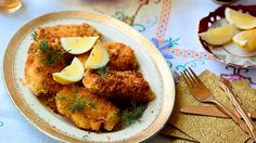 This simple, yet satisfying Russian dish is a winner for families. The crumbed chicken breasts are best served with dill and a juicy wedge of lemon. Lemon Dill Chicken Recipe, Chicken Kiev Recipe, Chicken Recipes, Russian Dishes, Russian Recipes, Best Chicken Dishes, How To Cook Chicken, Dill Recipes, Sbs Food