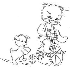 Vintage Hand Embroidery Pattern 140 Adorable Kittens for Dish Towels 1940s