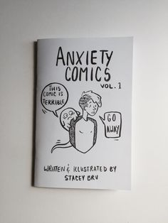 Hand printed comic zine about my struggles with anxiety and mental illness…