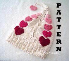 Knitting Pattern - Knit Girls Hat Pattern - Valentine Baby Hat (Newborn, Infant, Toddler, Child sizes) Knitted Children Clothing Pattern. $4.99, via Etsy.