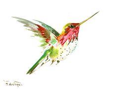Flying Hummingbird Art Print by Suren Nersisyan