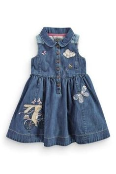 Buy Bunny Denim Shirt Dress (3mths-6yrs) from the Next UK online shop