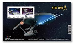 Hobby Stamp Collecting Products - Star Trek 50th Anniversary  Souvenir Sheet of 2 USS Enterprise and Klingon battle cruiser Collectible Postage Stamps Canada ** Visit the image link more details.