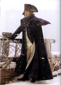 Capt. Aubrey wears his hat athwartships in emulation of Admiral Nelson.