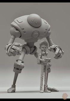 64 Ideas Digital Art Character Inspiration Animation For 2019 3d Model Character, Character Modeling, Character Concept, Character Art, Zbrush Character, Modelos Low Poly, Modelos 3d, Level Design, Space Opera