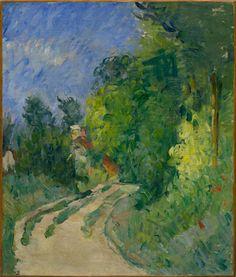 Paul Cézanne / Bend in the Road Through the Forest (La route tournante en sous-bois) / 1873–75 / oil on canvas