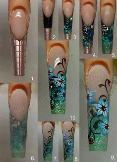 Nail art acrylic Más