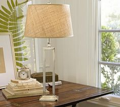Perfect bedside lamp, skinny for small bedside table but tall enough to cast light for reading and make a statement.