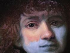 Learn About Underpainting Techniques - A half-painted face first painted in Verdaccio.