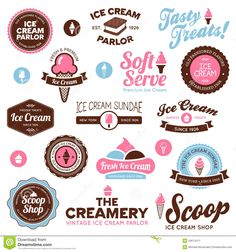 Ice Cream Shop Labels - Download From Over 30 Million High Quality Stock Photos, Images, Vectors. Sign up for FREE today. Image: 24674411