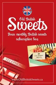 British sweets monthly subscription box. Humbugs, DipDabs, rhubarb and custard, liquorice, lollies, treacle, sherbet fountain, mints.