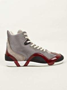 MAISON MARTIN MARGIELA 22, MID-TOP SNEAKERS: mesh + leathers.