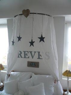 Ciel de lit avec des étoiles
