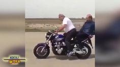 노인들의 아슬아슬 오토바이쇼