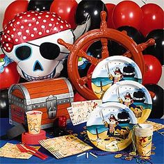 Pirates Birthday Party Kit, Pirate Theme Birthday Party Supplies