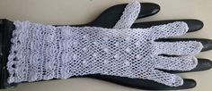 Vintage White Crochet Open Weave Over the Wrist by Cleverlasting