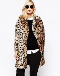 River Island(リバー アイランド) | River Island Faux Fur Leopard Jacket - MILANDA(ミランダ)通販