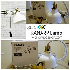 The lamps for our Master! Ikea's Ranarp.