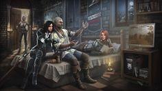 Download Ciri Yennefer Geralt Triss Merigold the Witcher 3 Art 1920x1080