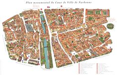Narbonne Map - Narbonne France • mappery