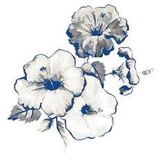 """Check out >> Classic Watercolor Flower Tattoo, Set of two Blue & Cream Coloured Physique Artwork Stickers, Short-term Tattoo Measurement - three"""" x three"""""""