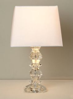 clear small arabella table lamp | touch of light | pinterest
