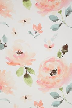 Blooming Watercolor Wallpaper