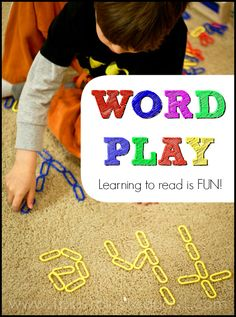 Word Play ~ Learning to read is FUN!  A collection of ideas from @1plus1plus1 and others #kindergarten