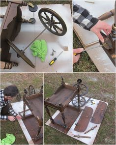 tea cart makeover, chalk paint, how to, painted furniture, painting