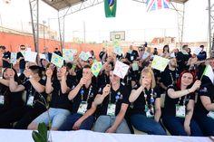 Team UK enjoy a warm welcome at local São Paulo school