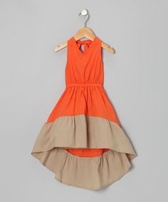 Take a look at this Orange Erin Dress - Infant, Toddler & Girls by KandyCrew on #zulily today!
