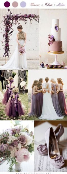 8571216792a6 Modern Mauve Plum and Lilac Wedding Color Combo Lilac Color, Lilac Wedding  Colors, Mauve