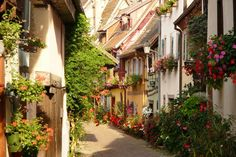 Eguisheim, France -- in Alsace, in north-eastern France. --  by Susanne (papierhexe)