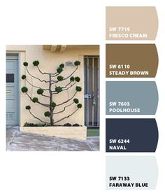 DIY coordinating paint colors inspired from photo, from Sherwin-Williams
