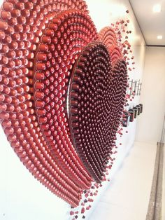 Heart Pods....  Made from recycled nespresso pods. Tactile shapes for school could even do letters
