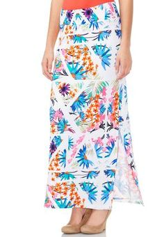 Cato Fashions Double Slit Floral Maxi Skirt Plus CatoFashions 1999 Realy Cute