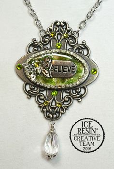 ICE Resin® Creating an Open Back Bezel with a Decorative Bookplate - Power Word Believe