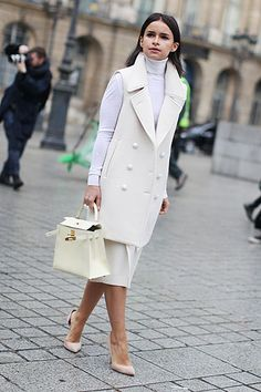More winter white tailoring spotted at #PFW #AW14