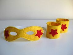 Super hero mask and cuffs - must have accessories for any cape