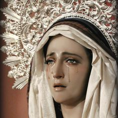 """My soul pours out without end, like melancholy water,""▼ - Éphraïm Mikhaël, from Poems; Madonna, La Passion Du Christ, Hollow Art, Blue Neighbourhood, Our Lady Of Sorrows, Religion Catolica, Queen Of Heaven, Holy Mary, Blessed Virgin Mary"