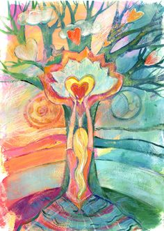 Yoga Journal Spain illustration. Artist unknown.